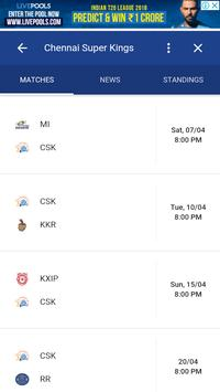 CSK Playing in 11 Players and Fixture/Matches screenshot 4