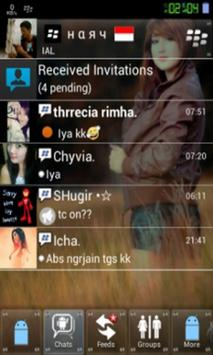 Tema BBM® Transparan apk screenshot