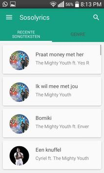 Sosolyrics screenshot 1