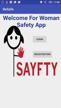 BeSafe : Women Safety poster