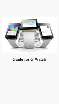 Guide for LG G Watch poster