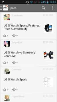 Guide for LG G Watch apk screenshot
