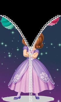 Princess Of Sophia ZipperLockScreen apk screenshot