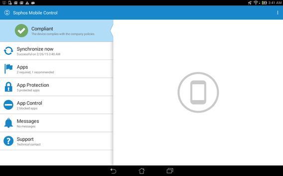 Sophos Samsung Plugin screenshot 1
