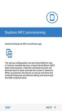 Sophos NFC Provisioning screenshot 2