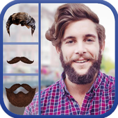 Men Styles Mustache and Hair icon