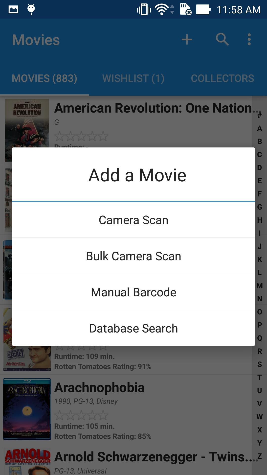 Movie Manager Collector 4K Blu-ray DVD UPC Library for Android - APK