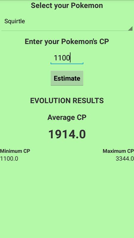 Evolve Calculator Pokemon Go For Android Apk Download
