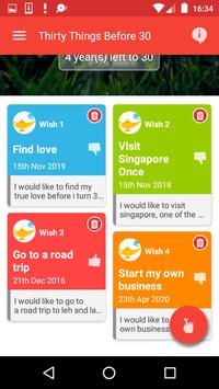 Thirty Things To Do Before 30 screenshot 3