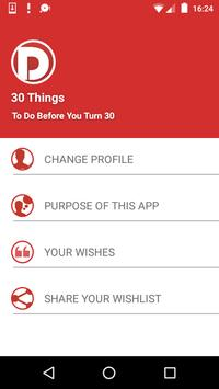 Thirty Things To Do Before 30 screenshot 1