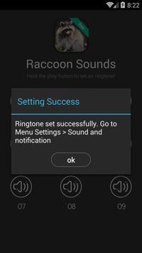 Raccoon Sounds and Ringtones apk screenshot