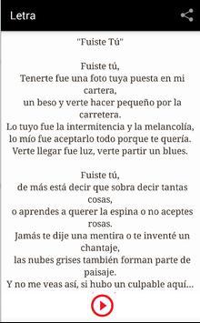 Letra - Ricardo Arjona apk screenshot
