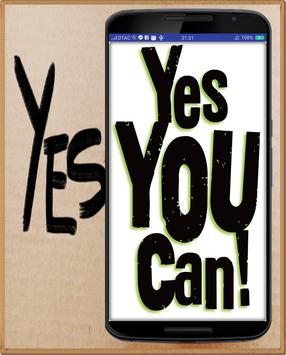 Yes You Can Button poster
