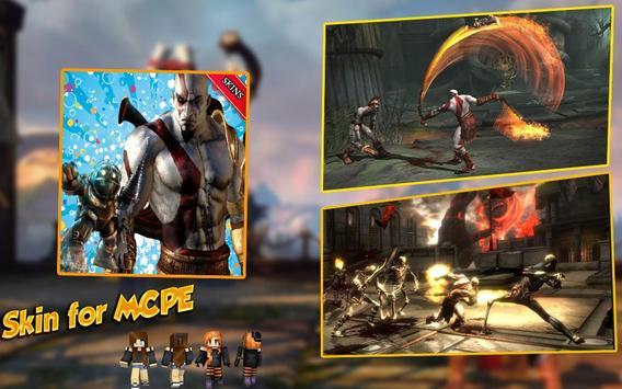 Skin for mcpe God Of war kratos poster