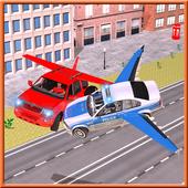 Flying Police Car vs Criminals icon