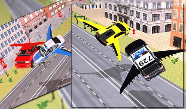 Flying Police Car vs Criminals apk screenshot