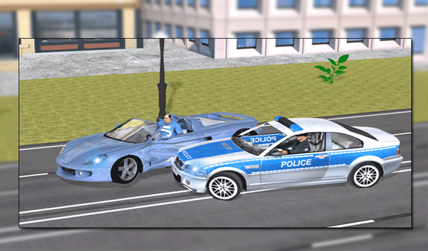 Flying Police Car vs Criminals screenshot 11