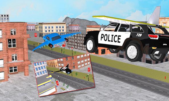 Flying Police Car vs Criminals screenshot 1