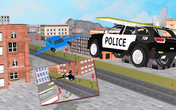 Flying Police Car vs Criminals screenshot 5