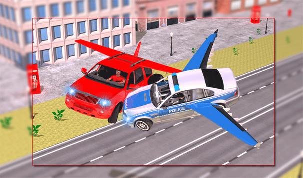 Flying Police Car vs Criminals screenshot 8