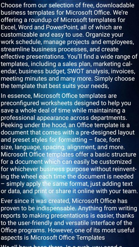 Business Office Templates For Android