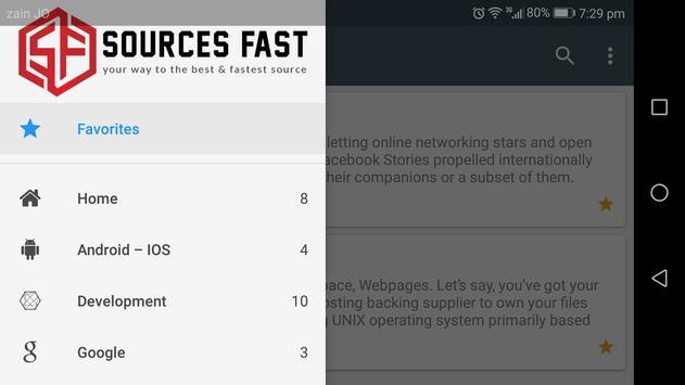 Sources Fast apk screenshot