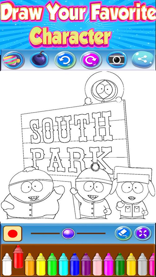 🇺🇸 Coloring book for SouthPark poster