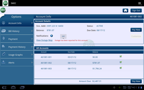 SWEC screenshot 2