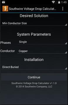 Southwire Volt Drop Calculator poster