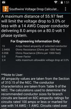 Southwire Volt Drop Calculator screenshot 2