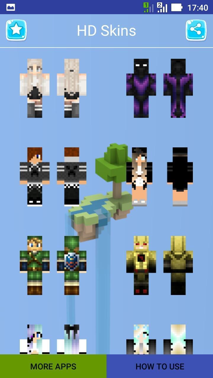 HD Skins para Minecraft para Android - APK Baixar
