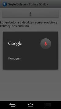 Söyle Bulsun Türkçe Sözlük apk screenshot