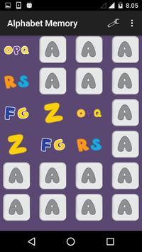 Alphabet Memory apk screenshot