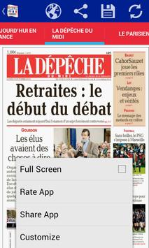 Front Pages of France apk screenshot