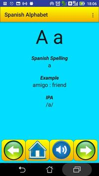 Spanish Alphabet for university students poster
