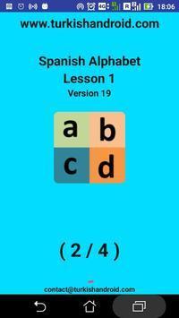 Spanish Alphabet for university students apk screenshot