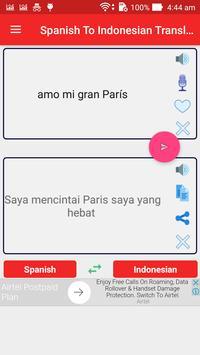 Spanish Indonesian Translator poster