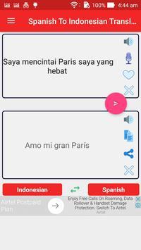 Spanish Indonesian Translator screenshot 1