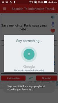 Spanish Indonesian Translator screenshot 2