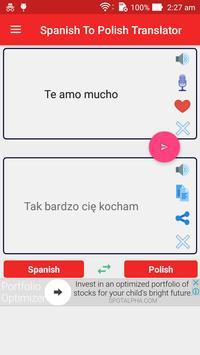 Spanish Polish Translator screenshot 1