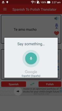 Spanish Polish Translator screenshot 2