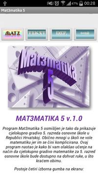 Matematika 5 osnovna škola poster