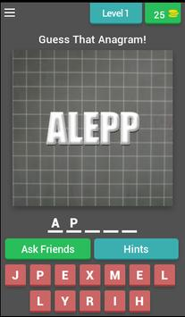 Guess That Anagram-PuzzleGames poster