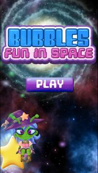 Bubbles Fun In Space الملصق