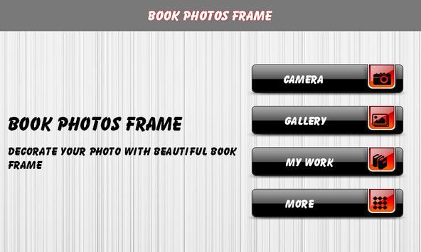 Book Photos Frame poster