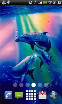 Sparkle Dolphins LWP poster