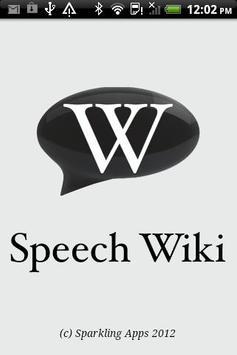 Speech Wiki poster