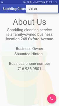 Sparkling Cleaning Service apk screenshot
