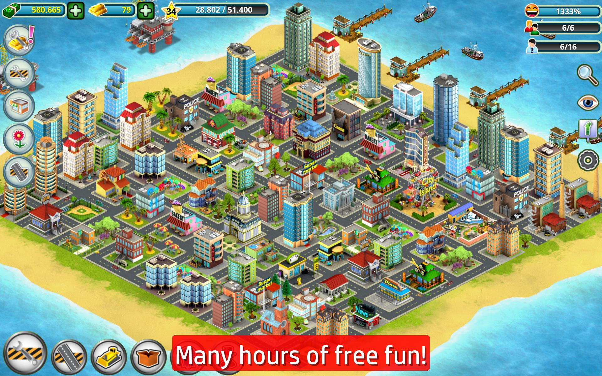 City Island Gold Sim Ty For