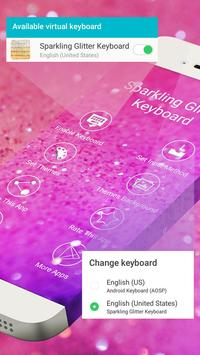 Glowing Glitter Keyboard Theme poster